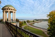 Sweeping views of the Volga River from this lovely park in the town of Yaroslavl, Russia, which is a UNESCO World Heritage site
