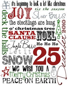 It's Written on the Wall: {23 Freebies} Christmas Subway Art For You Home