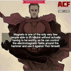 Magneto fact #137 Sad that it isn't the same universe 《《 x-men and the Avengers are in the same universe