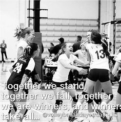 Encouraging volleyball cheers <3
