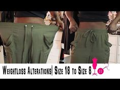 ▶ How to Alter a Size 18 Pants to a Size 8 (Weightloss Alterations) - YouTube