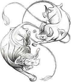 #Sternzeichen_Stier #Stiere  #Stier_Tattoos #Stier_Tattoo