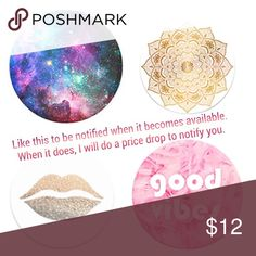 """PopSocket Expanding Stand & Grip Pop Socket Mount Pop, tilt, wrap, prop, collapse, grip, repeat ! Great to enhance grip while texting, video chatting, calling or taking photos. Compatible with all smartphones, tablets. Reusable but may not stick to all waterproof / silicone cases.  Bundle Savings  10% off 2 items 15% off 3+ items  20% off 5+ items Please use """"offer"""" when bundling, discount the % off & I will accept!   Tags: Apple iPhone iPad Samsung Galaxy Note Google Pixel Secure Earplug…"""