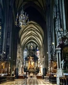 This stunning Catholic Church is St. Stephen's Cathedral.