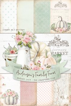 Andersons Family Farm Kit for August in the Handmade Club by Shabby Art Boutique Diy Arts And Crafts, Handmade Crafts, Paper Crafts, Diy Crafts, Decoupage Vintage, Decoupage Paper, Vintage Decor, Craft Tutorials, Craft Projects