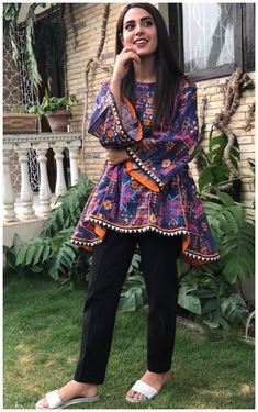 Best 12 Iqra Aziz is Looking Awesome. Pakistani Frocks, Pakistani Formal Dresses, Pakistani Fashion Casual, Pakistani Dress Design, Pakistani Outfits, Indian Outfits, Indian Fashion, Pakistani Actress, Stylish Dress Designs