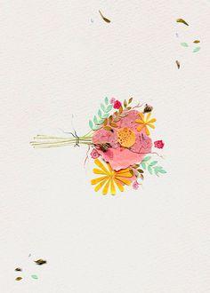 luci everett; idea for your bouquet, make a beautiful pressed flower arrangement