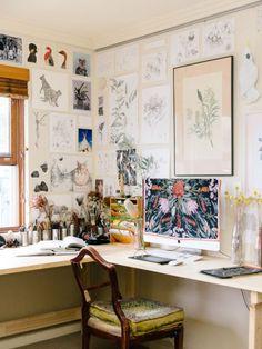 art studio, diy desk, vintage chair