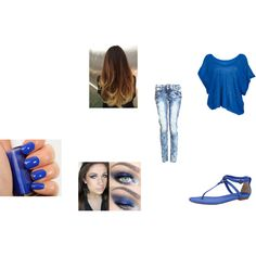 """""""BLUE"""" by swagqueen33 on Polyvore"""