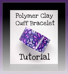 Polymer Clay Tutorial Millefiori Cuff Bracelet by BeadazzleMe, $16.00 *Love this tutorial. I used to always have my cuffs break. This is an amazing tutorial filled with ways to make strong beautiful cuffs. Inspiration and great step by step photos truly lead you creating amazing cuffs. Thank you for sharing your talent with us.