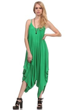 Jade jumpsuit, a delightful piece for those casual summer days. Dress up with jewelry and heels or chill by the pool.