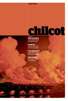 Cover for an 8-page Guardian newspaper supplement on the Chilcot Report #IraqInquiry