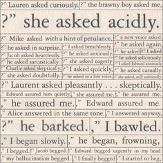 Adverbs and dialoguishness! You know not to do this, right?