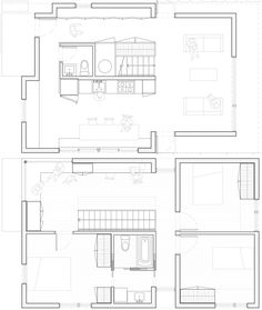 Small House - Jim Vlock Building Project - Yale School of Architecture - New Haven - Floor Plan - Humble Homes