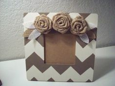 Burlap Charm! Handmade, hand painted beautiful Frame! Perfect Gift! Still time for Christmas shipping!
