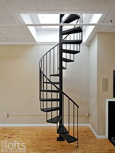 Simple Spiral Stairs To Roof