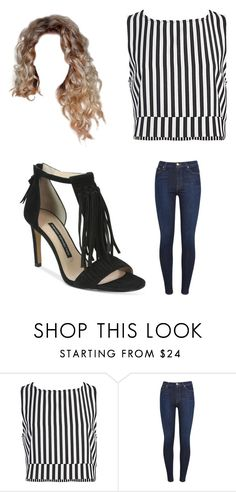 """Untitled #12296"" by iamdreamchaser ❤ liked on Polyvore featuring Sans Souci, 7 For All Mankind and French Connection"