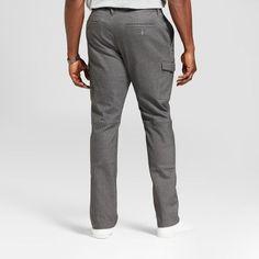 Men's Big & Tall Standard Fit Cargo Pants - Goodfellow & Co Gray 46X34
