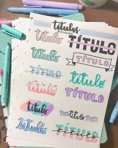 Pin by ashly alcocer on bullet journal bullet journal notes, Bullet Journal School, Bullet Journal Headers, Journal Fonts, Bullet Journal Aesthetic, Bullet Journal Notebook, Bullet Journal 2019, Bullet Journal Ideas Pages, Bullet Journal Inspiration, Lettering Tutorial