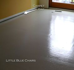 A pinner pinned: Little Blue Chairs: Painting your subfloor-What I learned and how you can do it yourself.