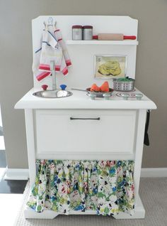 Adorable kitchen made from end table