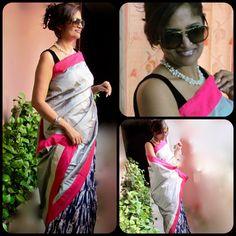 #Shibori and Silk #Designer #Saree
