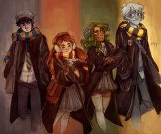 Ava's Demon Hogwarts colored