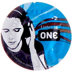 """listen to ONE"" ... and protect yourself. // ONE brand condoms."