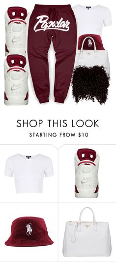 """Untitled #379"" by christianna-futrell ❤ liked on Polyvore featuring Topshop and Prada"