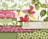 ❤❤ Copyrights unknown. Smith an Noble Spring Pink & Green 2012 Collection. Great combo of patterns and colots