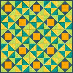 The economy block has quilters excited! As I wrote in January, quilters have found the fun in this square-in-a-square, or diamond-in-a-square block. It's a great way to showcase novelty print…