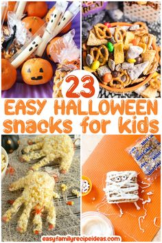 Halloween Snacks For Kids, Halloween School Treats, Halloween Cakes, Easy Family Meals, Kids Meals, Family Recipes, Caramel Apple Bites, Monster Pizza, Easy Cookie Recipes