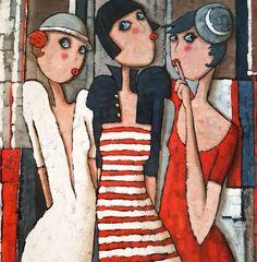 Collection Citadines – Virginie Matz - Hobbies paining body for kids and adult Wal Art, Street Art Utopia, Arte Pop, Whimsical Art, Portrait Art, Portraits, Figure Painting, Art Pictures, Cute Art