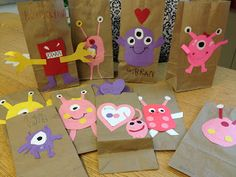 cute monster valentine bags