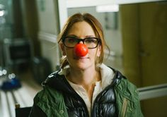 Julia Roberts wears the signature Red Nose in support of Red Nose Day
