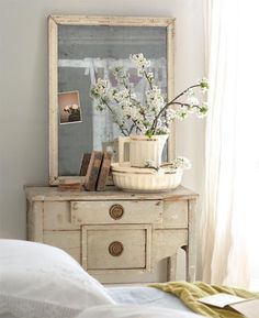 "Never saw a chest of drawers like this.... love that curved front detail and large round pulls.  Another Say ""YES"" to the Dresser find on Pinterest by Rescued Relics."