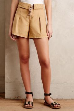 Pleated Linen Shorts - #anthrofave