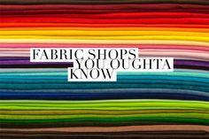 Tiendas de telas que deberías saber - el conejo de costura