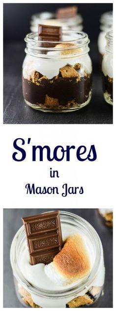Smores in Mason Jar