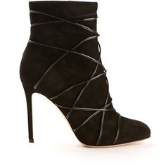 Gianvito Rossi Black Suede Ankle Boots ($945) ❤ liked on Polyvore