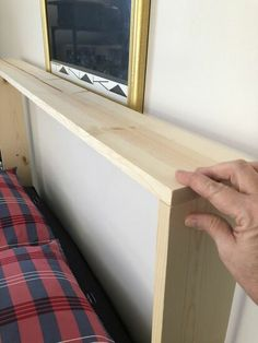 How to Build a Tongue and Groove Bookcase Headboard DIY Diy Bed Headboard, Headboard With Shelves, Modern Headboard, Bookcase Headboard, Headboard Designs, Diy Headboards, Headboards With Storage, Diy Storage Headboard, Rustic Headboard Diy