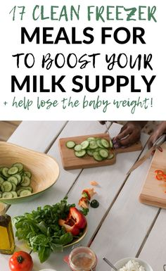 Clean freezer meals for new mamas that help boost your milk supply while also promoting healthy postpartum weight loss! Clean Freezer Meals, Make Ahead Meals, Freezer Cooking, Freezer Recipes, Quick Meals, Cooking Tips, Healthy Snacks, Healthy Eating, Healthy Recipes