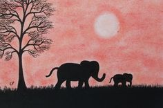 #Mothers Day #Card #Elephant, #Children Card, #Baby Elephant, Mothers Day #Art Card £2.20