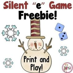 Snowman Silent e Game Freebie! Snowman Silent e Game by Teacher's Take-Out Reading Resources, Teaching Reading, Learning, Classroom Resources, Classroom Freebies, Guided Reading, Classroom Decor, First Grade Phonics, First Grade Activities