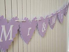 Mr & Mrs Bunting | wowthankyou.co.uk @http://www.wowthankyou.co.uk/perfect-day-wishes/products/mr-mrs-bunting/ ~ £6
