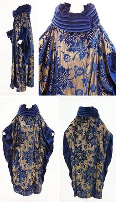 silk and velvet opera coat, 473159504602960916 Vintage Outfits, 1920s Outfits, Vintage Dresses, Vintage Fashion, Vintage Prom, 1950s Fashion, Victorian Fashion, Fashion Fashion, 1920 Style