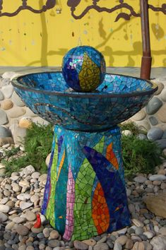 Mosaic Garden Water Fountain...water in the garden...what more could you ask for...