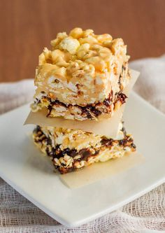 Redenbacher's Ribbon O' Fudge Bars - retro recipe from 1993, only 5 delicious ingredients.