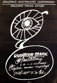 Hungarian Graphics Exhibition, 1967 - original vintage poster listed on AntikBar.co.uk