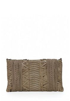 Braided Zip Top Clutch
